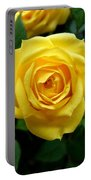 Miniature Yellow Rose Portable Battery Charger