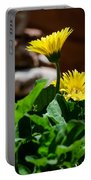 Miniature Yellow Gerbera Daisies Portable Battery Charger