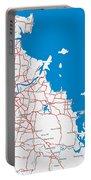 Minimalist Modern Map Of Brisbane, Australia 6 Portable Battery Charger
