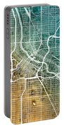 Minneapolis Minnesota City Map Portable Battery Charger