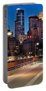 Minneapolis Skyline From Stone Arch Bridge Portable Battery Charger