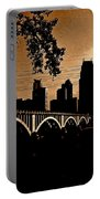 Minneapolis Skyline In Copper Portable Battery Charger