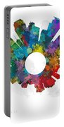 Minneapolis Small World Cityscape Skyline Abstract Portable Battery Charger
