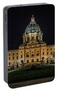 Minnesota Capital At Night Portable Battery Charger