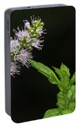 Mint Flower Portable Battery Charger