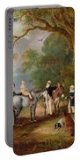 Miss Catherine Herrick With Her Nieces And Nephews Portable Battery Charger by John E Ferneley
