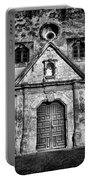 Mission Concepcion Front - Classic Bw Portable Battery Charger