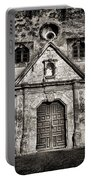 Mission Concepcion Front - Toned Bw Portable Battery Charger
