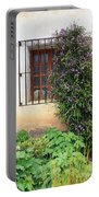 Mission Window With Purple Flowers Vertical Portable Battery Charger