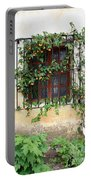 Mission Window With Yellow Flowers Vertical Portable Battery Charger