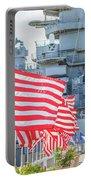 Missouri Battleship Memorial Flags Portable Battery Charger