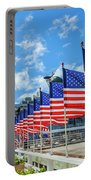 Missouri Warship Memorial Flags Portable Battery Charger