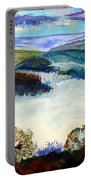 Mist In The Exe Valley In Exeter Devon Portable Battery Charger