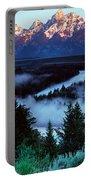 Mist Over Snake River, Sunrise Light Portable Battery Charger