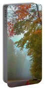 Misty Autumn Road Portable Battery Charger