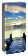 Misty Morning On Rock Creek Portable Battery Charger