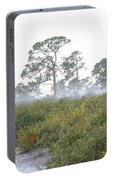 Misty Morning On The Trail Portable Battery Charger