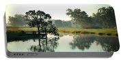 Misty Morning Pond Portable Battery Charger