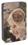Misty Rose Tinted Dried Roses Portable Battery Charger