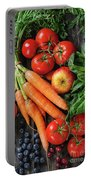 Mix Of Fruits, Vegetables And Berries Portable Battery Charger