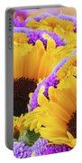Mixed Autumn Flowers Portable Battery Charger
