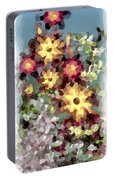 Mixed Floral Portable Battery Charger
