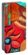 Mixed Media Abstract  Portable Battery Charger