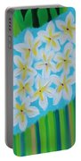 Mixed Up Plumaria Portable Battery Charger by Deborah Boyd