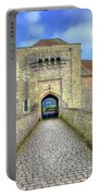 Moat House Leeds Castle Portable Battery Charger by Chris Thaxter