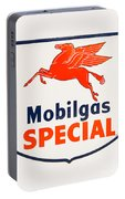 Mobil Gas Vintage Sign Portable Battery Charger