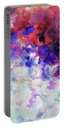 Modern Abstract Painting In Blue Portable Battery Charger