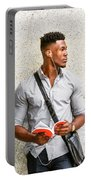 Modern College Student In New York Portable Battery Charger