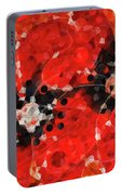 Modern Red Poppies - Sharon Cummings Portable Battery Charger