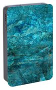 Modern Turquoise Art - Deep Mystery - Sharon Cummings Portable Battery Charger