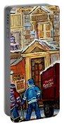 Moe's Corner Snack Bar And Diner Montreal Landmark  Restaurant Canadian Art Carole Spandau Portable Battery Charger