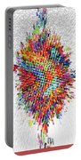 Molecular Floral Abstract Portable Battery Charger