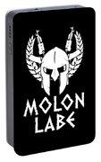Molon Labe Spartan Warrior Helmet Rifles Portable Battery Charger