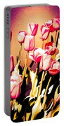 Molten Gold Tulips Portable Battery Charger