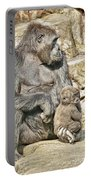 Momma And Baby Gorilla Portable Battery Charger