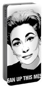 Mommie Dearest - Clean Up This Mess - Pop Art Portable Battery Charger