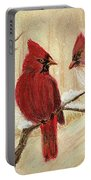 Mom's Favorite Redbirds Portable Battery Charger