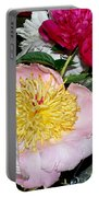 Mom's Peonies Portable Battery Charger