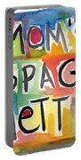 Mom's Spaghetti- Art By Linda Woods Portable Battery Charger