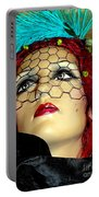 Mona In Mourning Portable Battery Charger