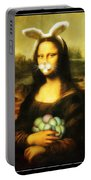 Mona Lisa Bunny Portable Battery Charger