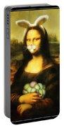 Mona Lisa Bunny Portable Battery Charger