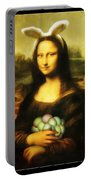 Mona Lisa Easter Bunny Portable Battery Charger