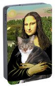 Mona Lisa's Tri Color Cat Portable Battery Charger