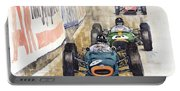 Monaco Gp 1964 Brm Brabham Ferrari Portable Battery Charger