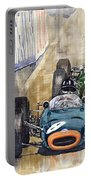 Monaco Gp 1964 Brm Brabham Ferrari Portable Battery Charger